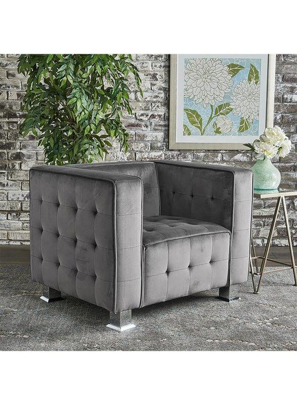 Ottomans Designed Velvet Chair