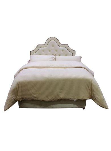 سرير منجد بدون مرتبة من ان هاوس جميع المقاسات - بيج - دينفر