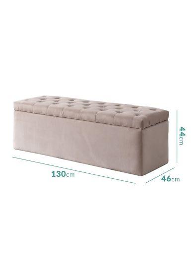 مقعد غرفة نوم بمساحة تخزين 130*46*44 سم