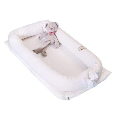 ريجل إن هاوس سرير أطفال متنقل قابل للطي لون أبيض - 90*50*15 سم