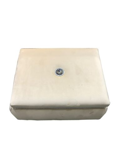 صندوق المقتنيات الشخصية العرائسي المخمل المرصع بالكرستال 60*48*40 سم