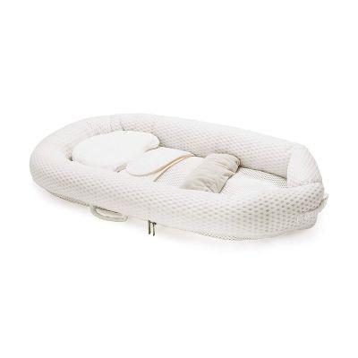 ريجل إن هاوس سرير أطفال متنقل قابل للطي لون أبيض