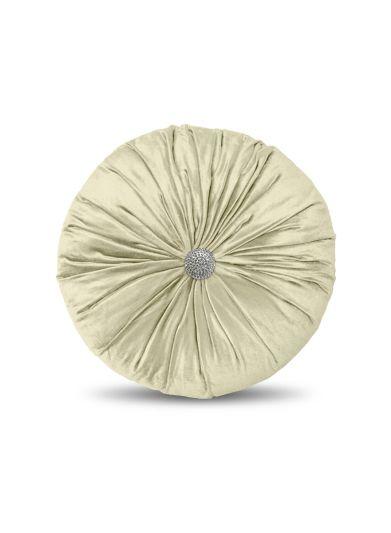 وسادة الديكور الدائرية المزينة المصنوعة من القماش المخمل مقاس 40*40 سم من ريغال أن هاوس