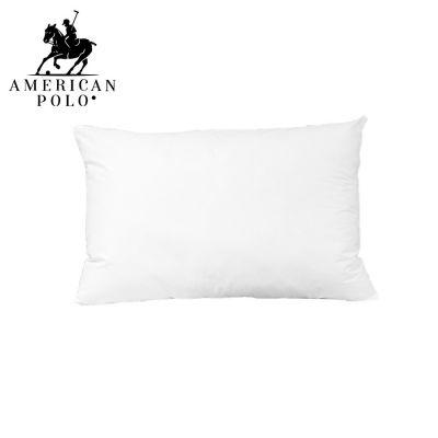 أمريكان بولو وسادة فندقية قماش خارجي 100% من القطن وزن 1000 غرام مع حشوة من المايكروفايبر - 50*75 سنتيمتر