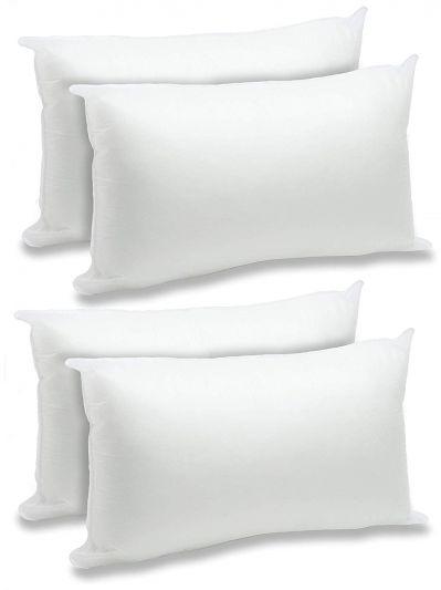 ريجل إن هاوس وسادة - حشوة وسادة مايكروفايبر بيضاء - عدد 4 قطعة - مستطيل