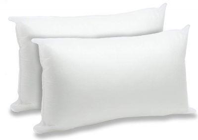 طقم مخدات نوم ، 2 قطع ، شكل مستطيل ،لون أبيض مميز
