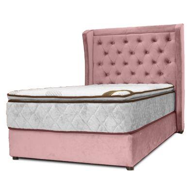 سرير ليتشي - ظهرية مستقيمة منجدة أنيقة من الخشب السويدي