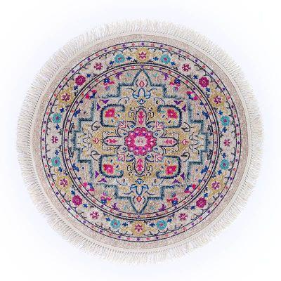 سجادة دائرية ناعمة الملمس ملونة - DT35644.101