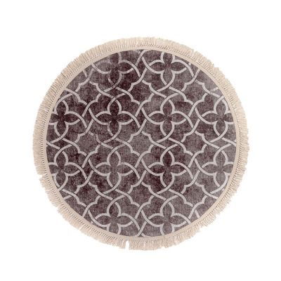 سجادة دائرية ناعمة الملمس شوكو - 120x120سم - DT02322.102