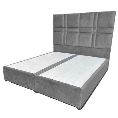 برلين سرير نوم متعدد المقاسات - ظهرية مستقيمة منجدة و مُصنع من الخشب السويدي