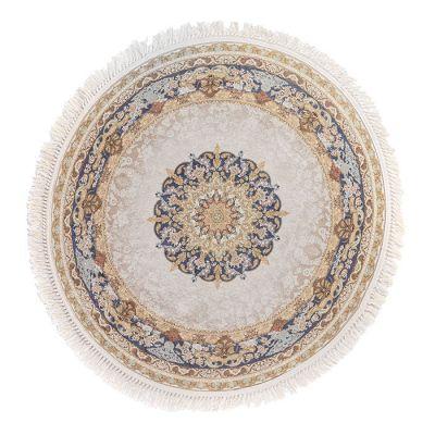 سجادة دائرية ناعمة الملمس بيج - 120x120سم - DT25558.104