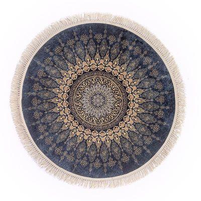 سجادة دائرية ناعمة الملمس ملونة - DT25524.105