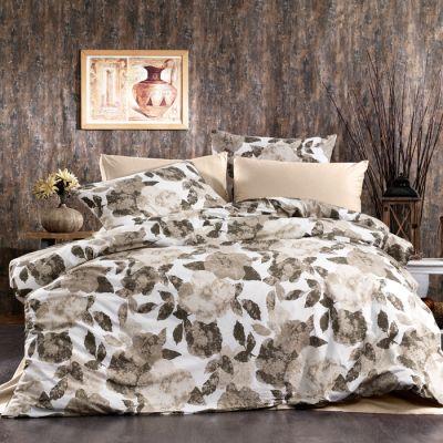 طقم مفرش رانفورس رويال ، مُصنع من القطن، حجم مجوز، لون بني وأبيض، 10 قطع، مقاس 240*260سم