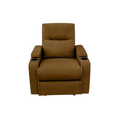 كرسي استرخاء وراحة سينمائي هزاز دوار بحامل أكواب وظهر قابل للتحكم به - AB08