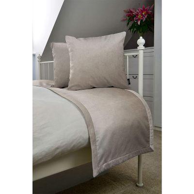 ريجل إن هاوس طقم مفرش سرير مخملي ناعم لون مطفي + زوج غطاء وسادة 240 سم * 50 سم طقم أغطية