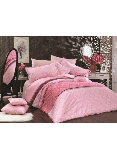 3- قطع لحاف رانفورس قطن منجد قياس كينغ - 260 * 240- ruse pink