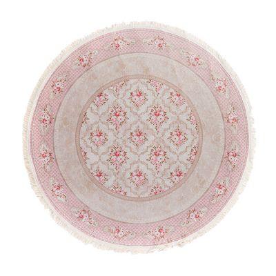 سجادة دائرية ناعمة الملمس زهري - 120x120سم - TENDA Pink