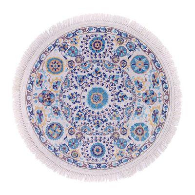 سجادة دائرية ناعمة الملمس ملونة - 120x120سم - DT35578.102