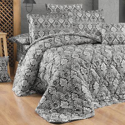 طقم مفرش رانفورس رويال ، مُصنع من القطن، حجم مجوز، لون أسود، 10 قطع، مقاس 240*260سم