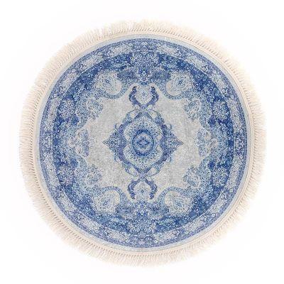 سجادة دائرية ناعمة الملمس أزرق - DT35710.105