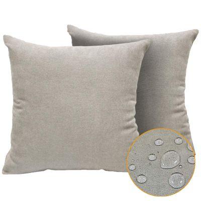 ريجل إن هاوس وسادة ديكور مربعة من المخمل الناعم للأريكة, قطعتين - 50*50 سم