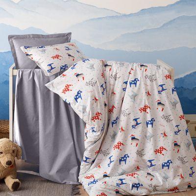 طقم مفرش رانفورس للأطفال، حجم مفرد، مُصنع من القطن، متعددة الألوان، 6 قطع، مقاس 240*190 سم